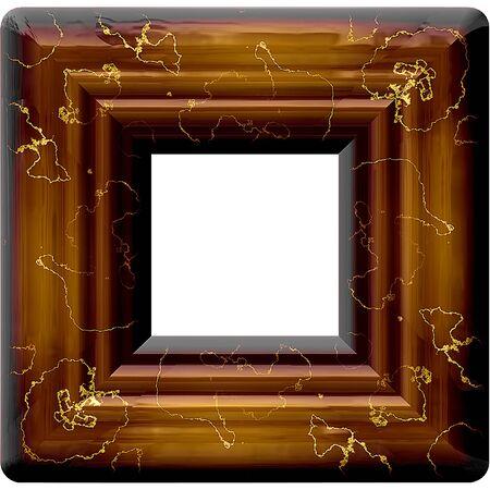 mahogany: Vintage mahogany frame with cracks