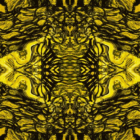 reptile skin: Abstract gold and black pattern with stylized reptile skin