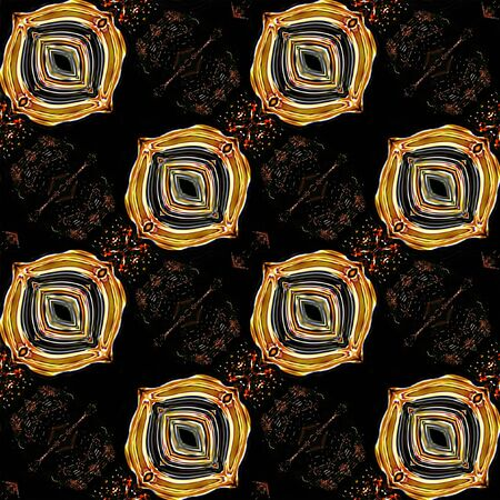 reminiscent: Abstract seamless ornamental pattern reminiscent of arabesques