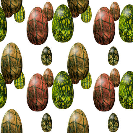 reptilian: Easter seamless pattern with reptilian eggs texture