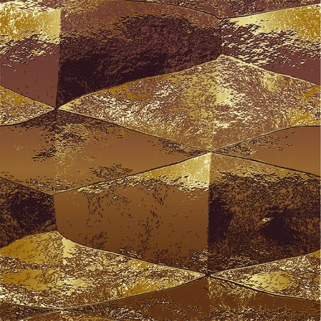 gold metal: Abstract metal scratched background of gold crumpled foil