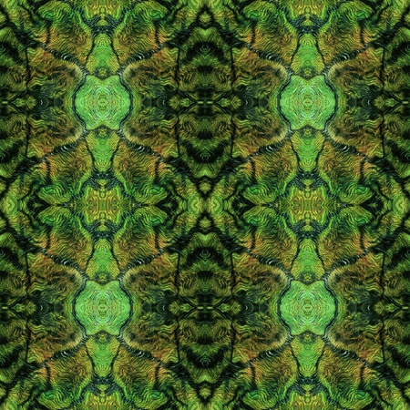 resembling: Abstract seamless green and brown pattern resembling dragon skin
