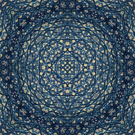 Abstrakte blaue Muster ähnlich Orientteppich mit ornamentalen Muster Standard-Bild - 38724027