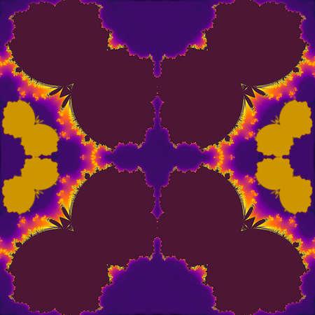 moth: Dark abstract fractal pattern resembling moth at night