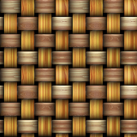intertwined: Wooden intertwined background resembling basket texture Stock Photo