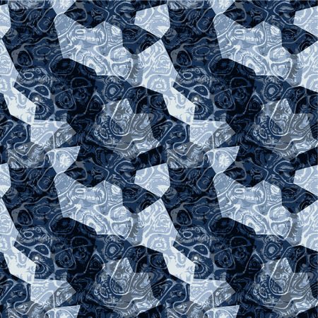 marbled: Abstract seamless dark blue marbled pattern Illustration
