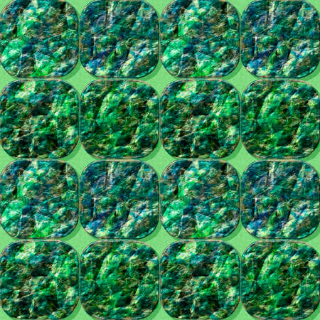 resembling: Seamless pavement pattern with green crystals of gemstones resembling emeralds