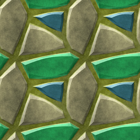 road paving: Seamless pattern of blue, green and brown stones resembling old floor