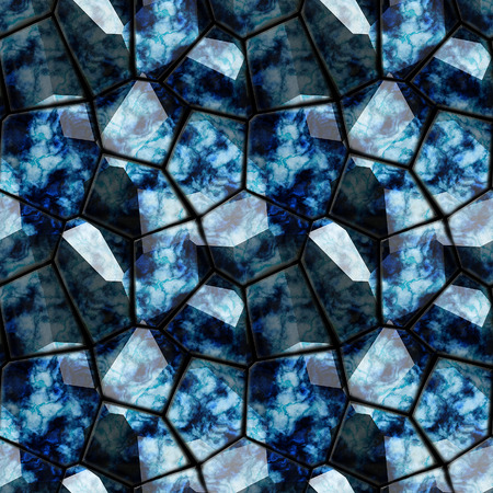 pave: Seamless marble floor pattern of sharp 3d stones
