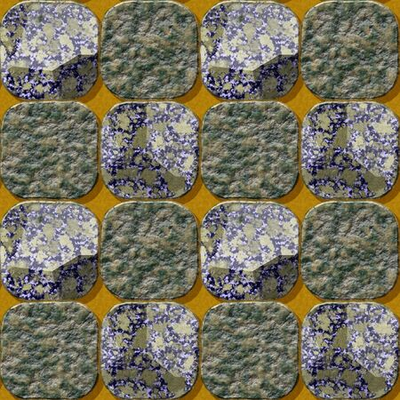 rounded squares: Seamless pavement pattern of rounded squares with marbled structure