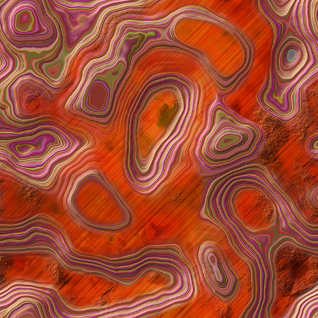 layered: Abstract grained layered background with contour lines and craters Stock Photo