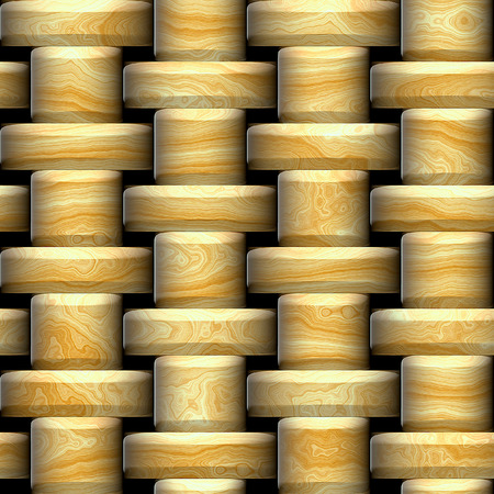 cut logs: Wooden seamless pattern of logs with the brushed edges Stock Photo