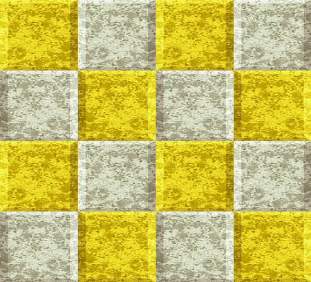 pave: Abstract seamless pattern of silver and gold squares with marble structure