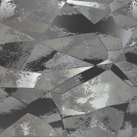 wrinkle: Abstract background of black and gray folded metal foil Illustration