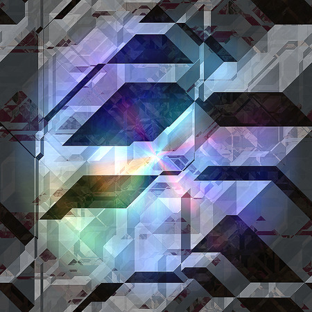 spectral: Abstract black and gray background of 3d blocks with spectral rainbow rays