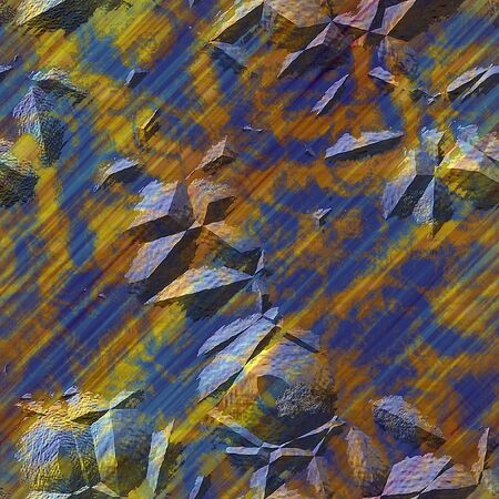 Abstract background of rusty metal structure with cracks and bumps