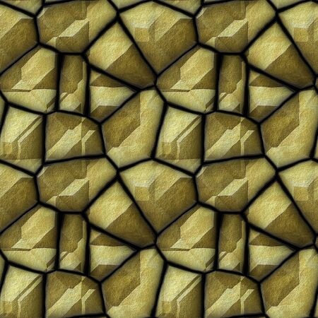 road paving: Abstract seamless pattern of relief rock sandstone polygonal structure Stock Photo