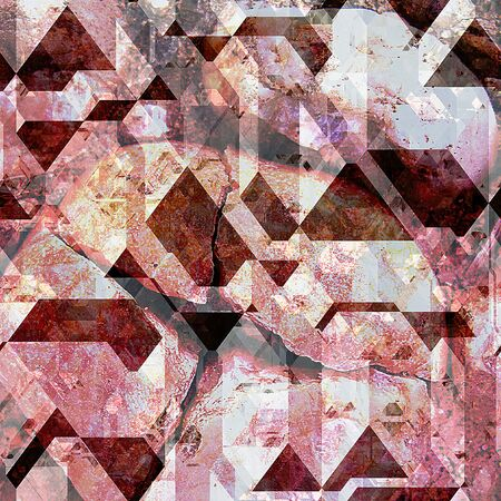 pyramidal: Abstract red, pink and white background of cracked pyramidal blocks