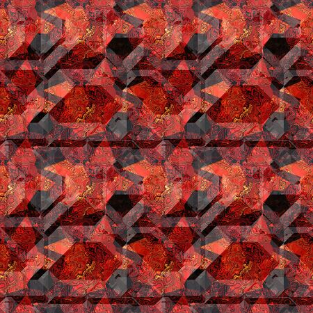 mottled: Abstract seamless red and black mottled pattern with typical marble structure Stock Photo
