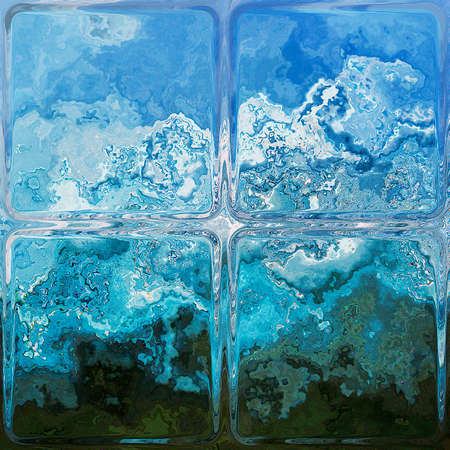 frosted window: Abstract background resembling frosted window covered with ice Stock Photo