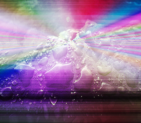 spectral: Abstract background with rainbow spectral rays and water drops