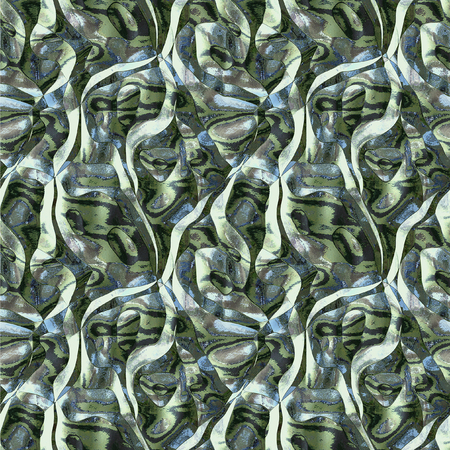 liquefy: Abstract blue, green, white and gray background reminiscent of molten metal Stock Photo
