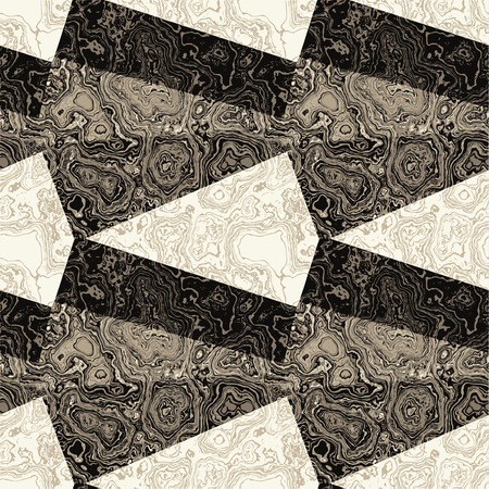 pave: Abstract seamless black and white pattern with marbled veined structure