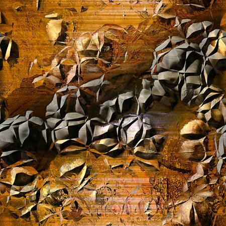 Abstract cracked background of rusty metal structure with bumps resembling surface of a planet