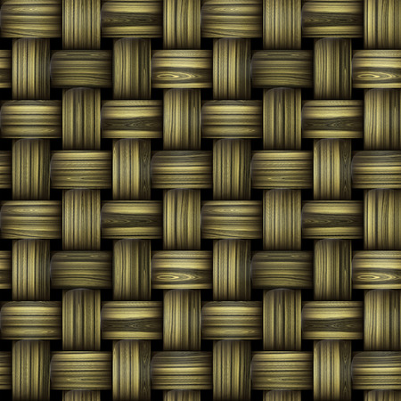 reminiscent: Seamless wooden wicker pattern reminiscent of old basketball structure Stock Photo