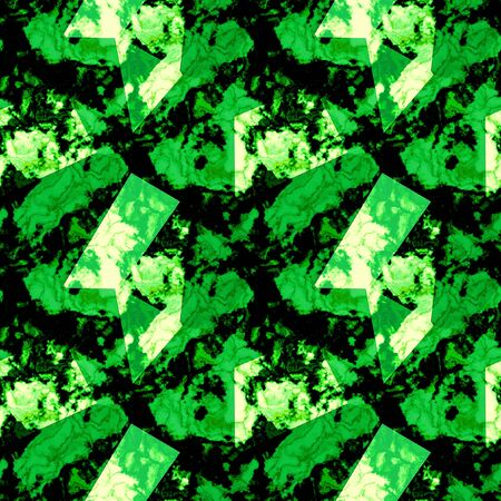paving stones: Seamless abstract pattern with mottled green marbled texture Stock Photo