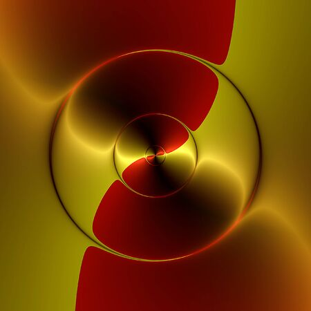 liquid gold: Abstract gold background with circular bloody red liquid