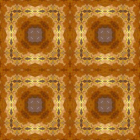 tapis: Abstract seamless pattern with oriental ornamental frames