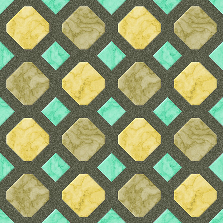 veined: Abstract seamless gold, beige and green pattern with veined marble structure Stock Photo