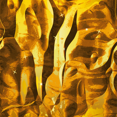 molten: Abstract background resembling molten gold metal with flashing lights