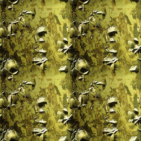 Abstract seamless rusty metal gold background with cracked surface