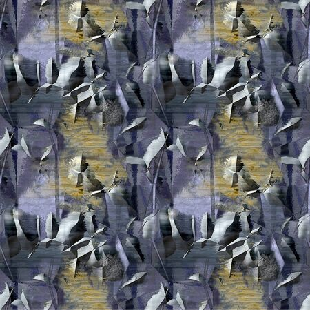Abstract seamless pattern with grunge metal surface cracked Bumpy