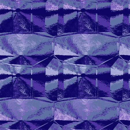 grooved: Abstract crumpled violet and blue pattern resembling grooved metal foil