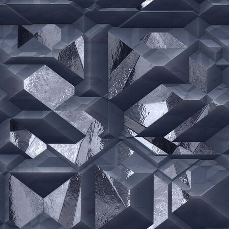shiny metal: Abstract 3d silver and gray background with shiny metal FACETS