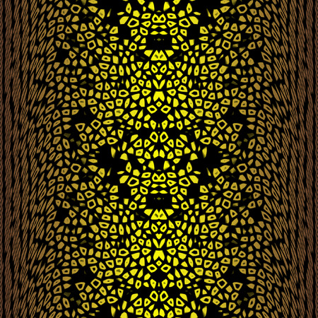bulging: Abstract seamless background of gold convex bulging perforated pattern