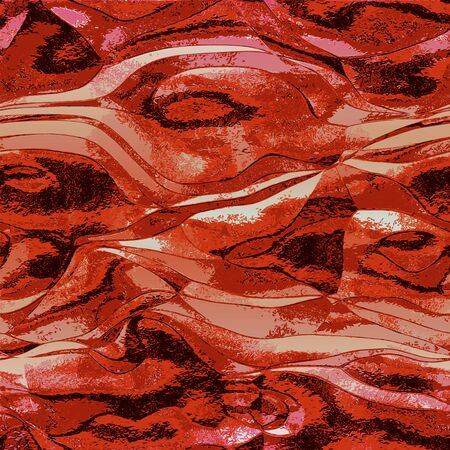 melt: Abstract red, black and white background reminiscent of molten metal structure