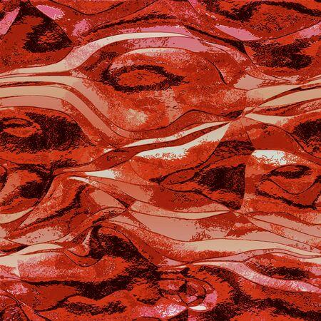 Résumé rouge, noir et fond blanc qui rappelle la structure de métal en fusion Vecteurs