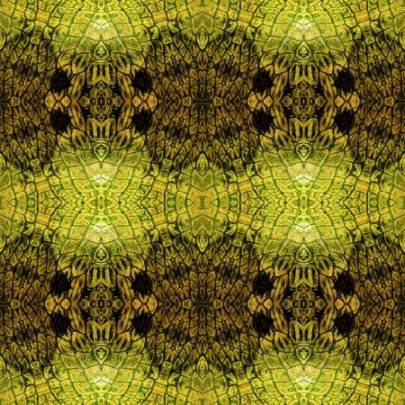 gold brown: Abstract seamless gold, brown and black pattern with Scalloped structure reminiscent of snake skin Stock Photo
