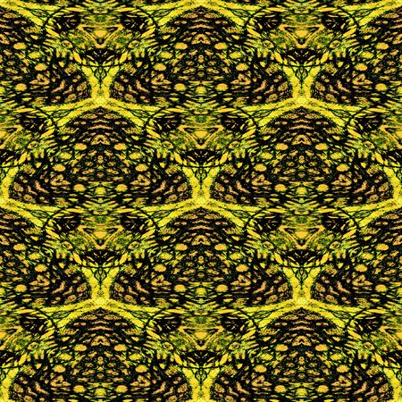 reptile skin: Abstract seamless pattern of rounded triangles resembling stylized reptile skin structure with Scalloped