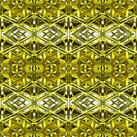 gold metal: Abstract seamless vintage gold and silver metal pattern of geometric shapes