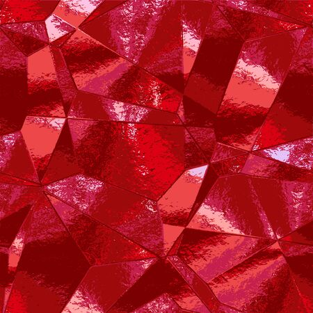 wrinkled: Abstract background with crumpled metal texture resembling scratched red foil Illustration