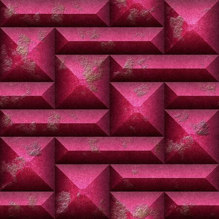 pyramidal: Abstract seamless pattern of 3d relief weathered pyramidal blocks