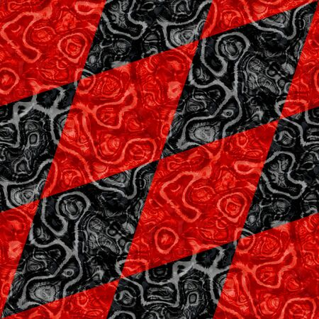 mottled: Abstract seamless black and red mottled diamond pattern Stock Photo