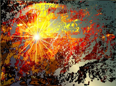 supernova: Abstract grunge background with explosion and torn pieces of supernova