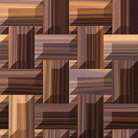 beveled: Abstract seamless floor wooden pattern of rectangles with beveled edges Stock Photo