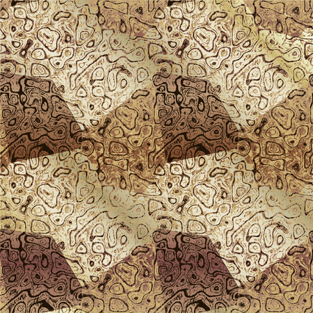 brown pattern: Abstract brown, beige and white mottled background resembling old marble floor Illustration